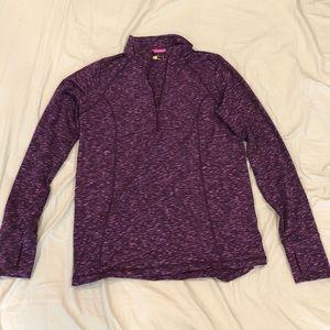 Purple Long Sleeve Running Shirt